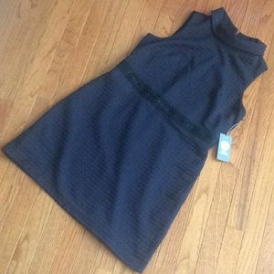 🆕 VINCE CAMUTO navy textured shift dress-size 12P